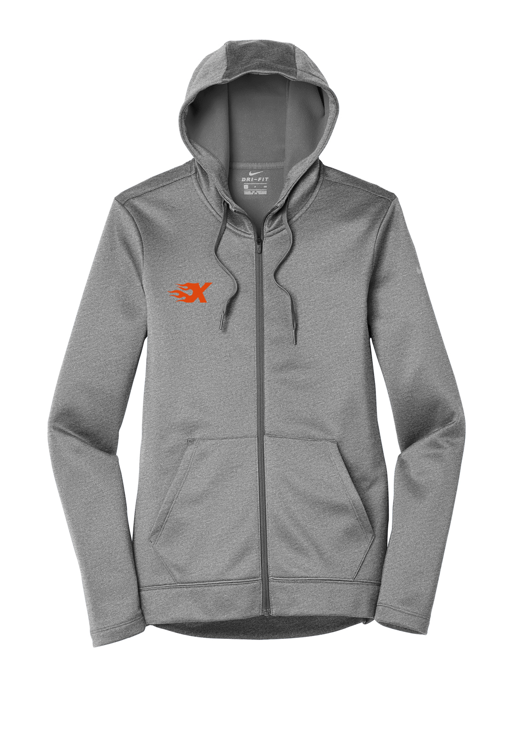 Xtreme Lacrosse Grey Nike Ladies Therma-FIT Full Zip Hoodie