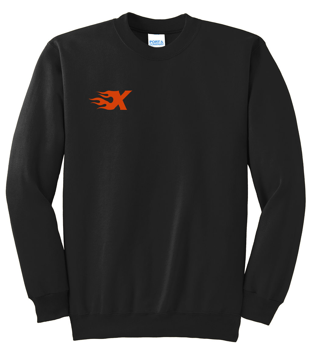 Xtreme Lacrosse Black Crew Neck Sweater