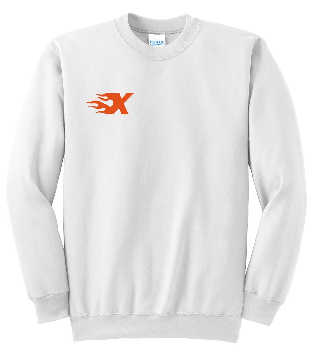 Xtreme Lacrosse White Crew Neck Sweater