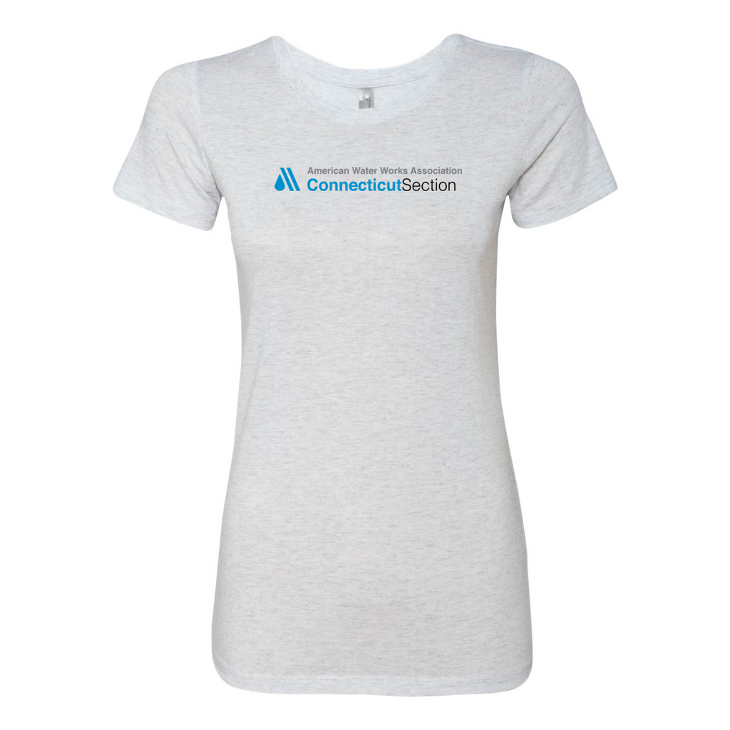 AWWA Connecticut Section Next Level Women's Triblend Short Sleeve Crew