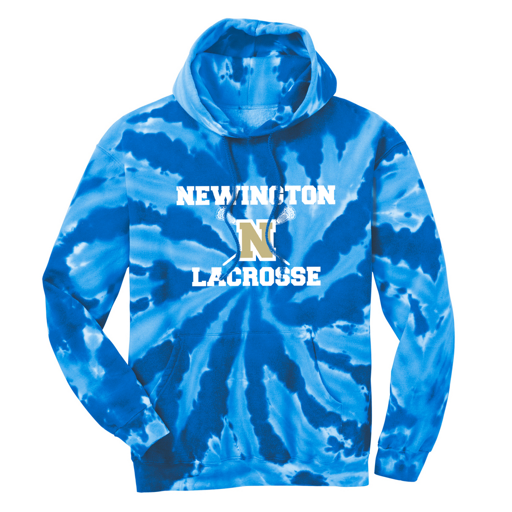 Newington High School Lacrosse Tie-Dye Pullover Hooded Sweatshirt