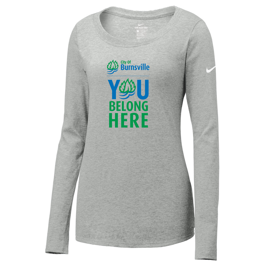 City of Burnsville Nike Ladies Core Cotton Long Sleeve Tee
