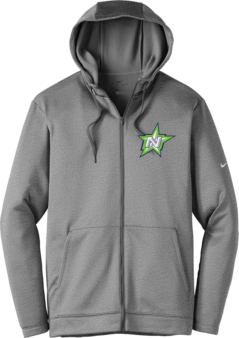 Northstar Baseball Nike Grey Full-Zip Hoodie