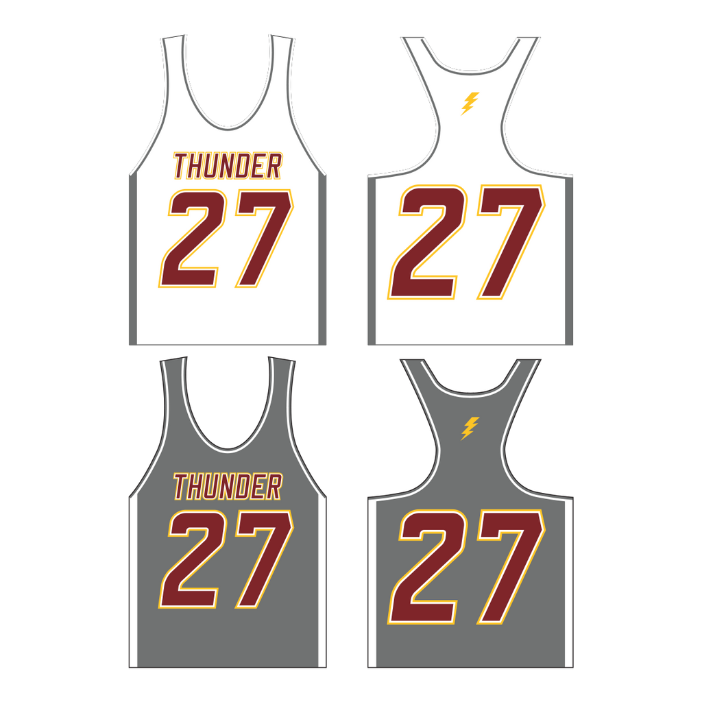 Ankeny Thunder Lacrosse Premium Girl's YOUTH Racerback Pinnie