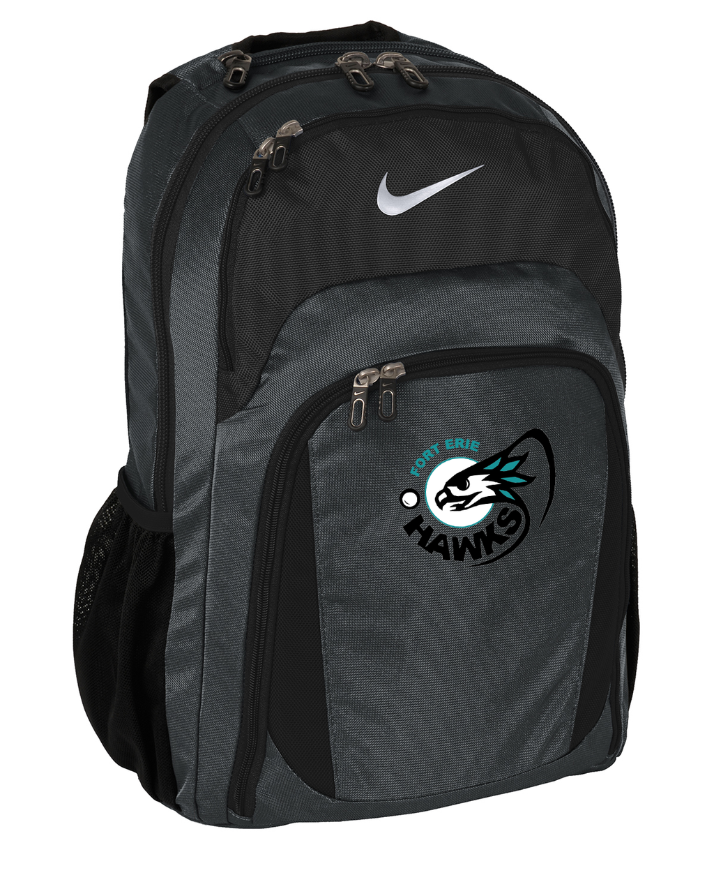 Fort Erie Hawks Anthracite/Black Nike Backpack