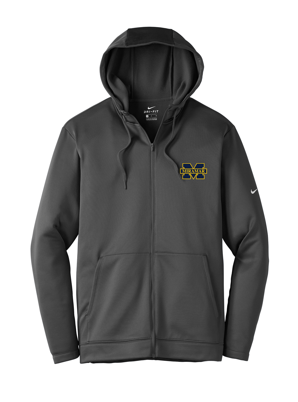 Miramar Wolverines Football Nike Therma-FIT Full Zip Hoodie
