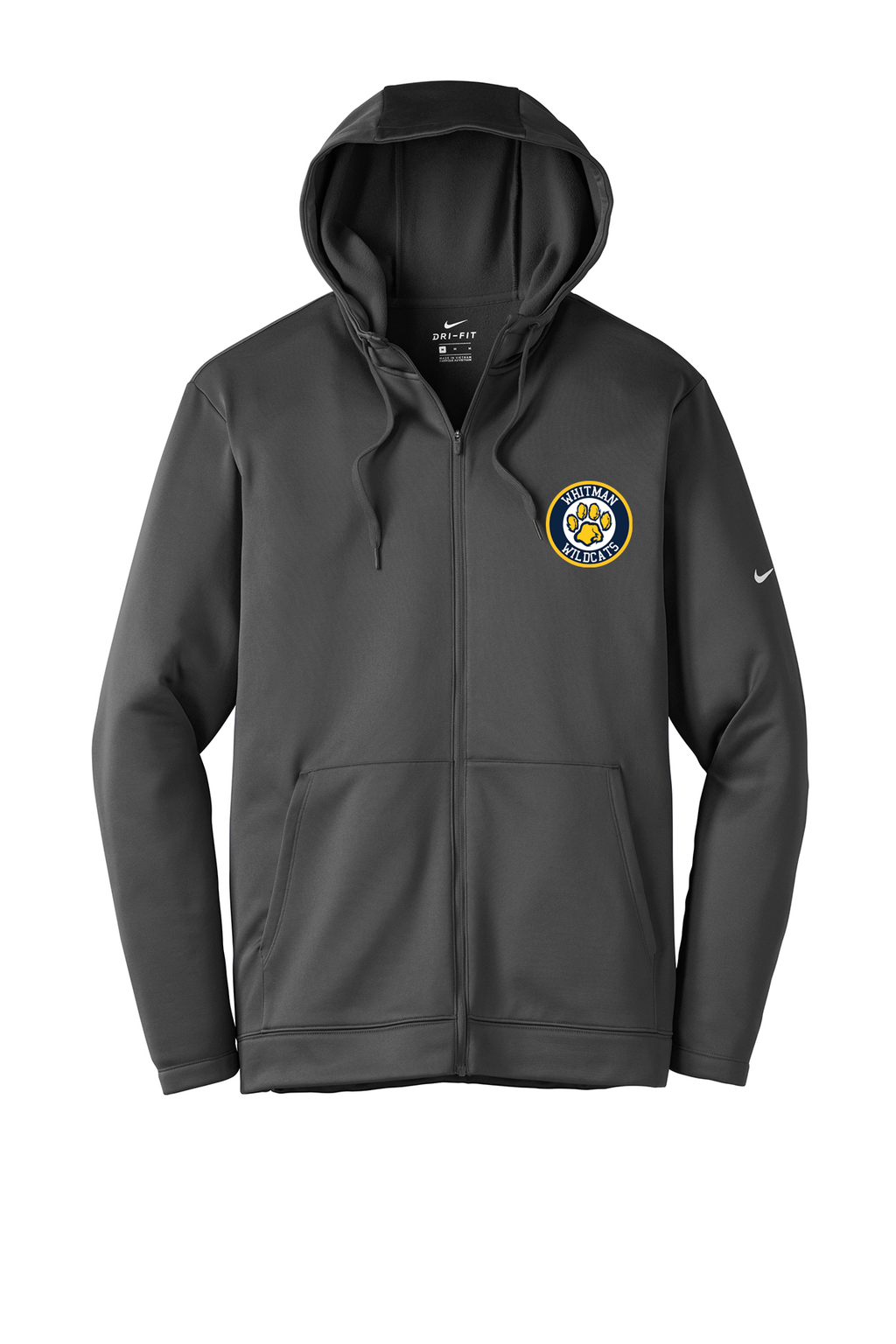 Whitman Wildcats Nike Therma-FIT Full Zip Hoodie