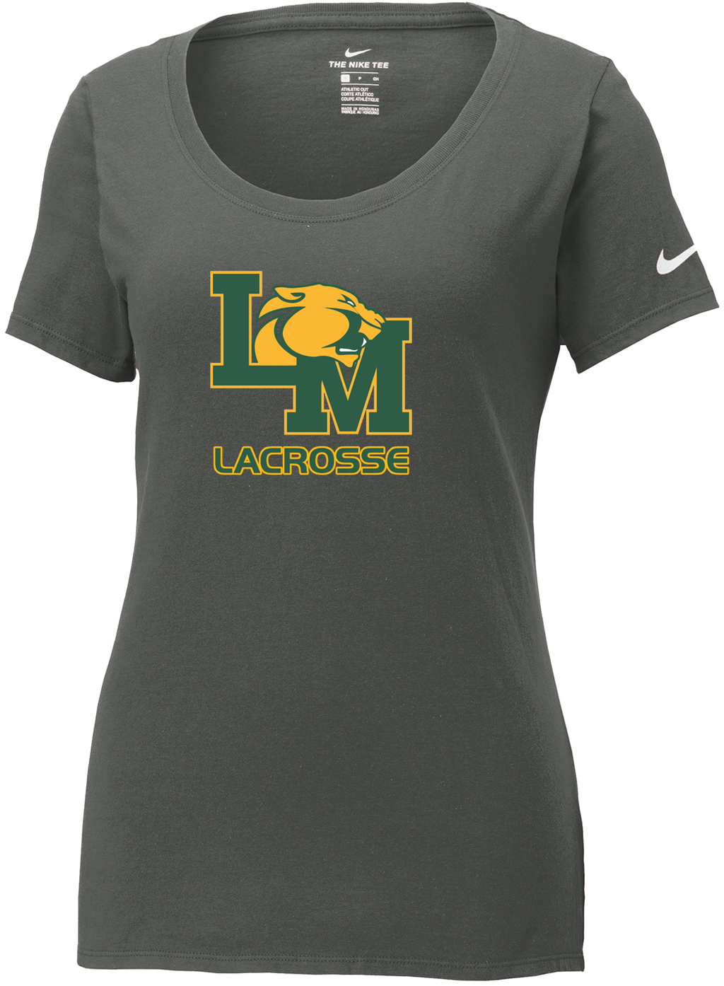 Little Miami Lacrosse Anthracite Nike Ladies Core Cotton Tee
