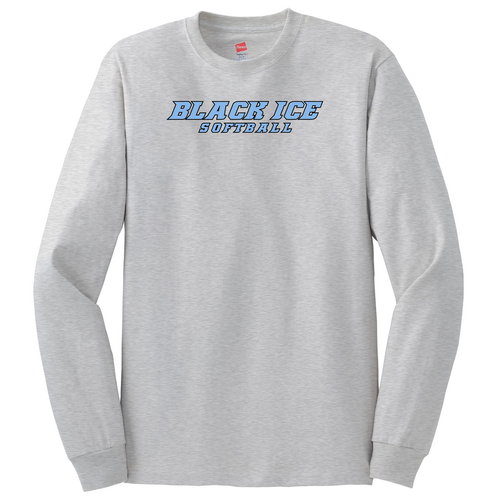 Black Ice Softball  Cotton Long Sleeve