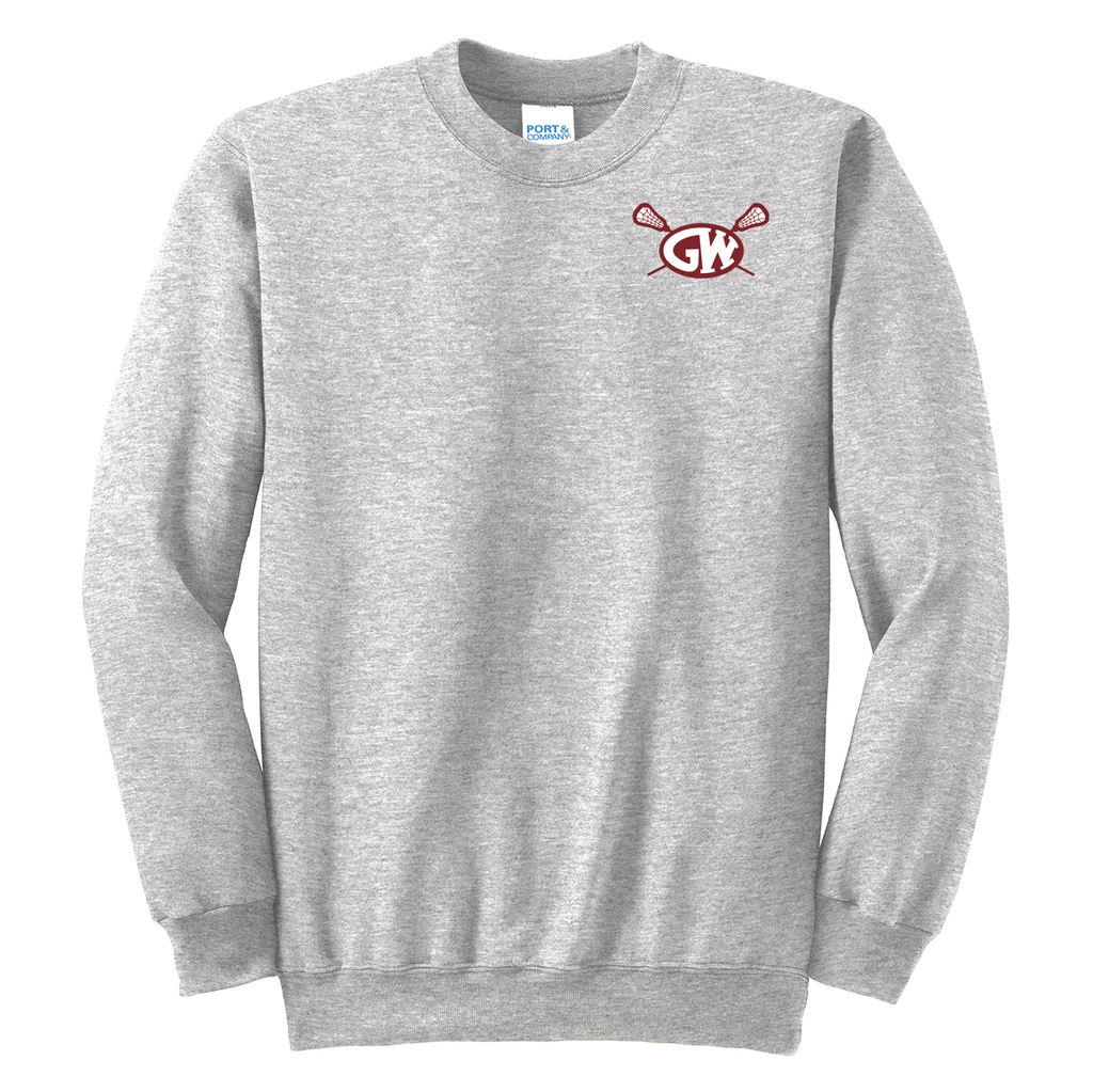 George Washington Lacrosse Crew Neck Sweater