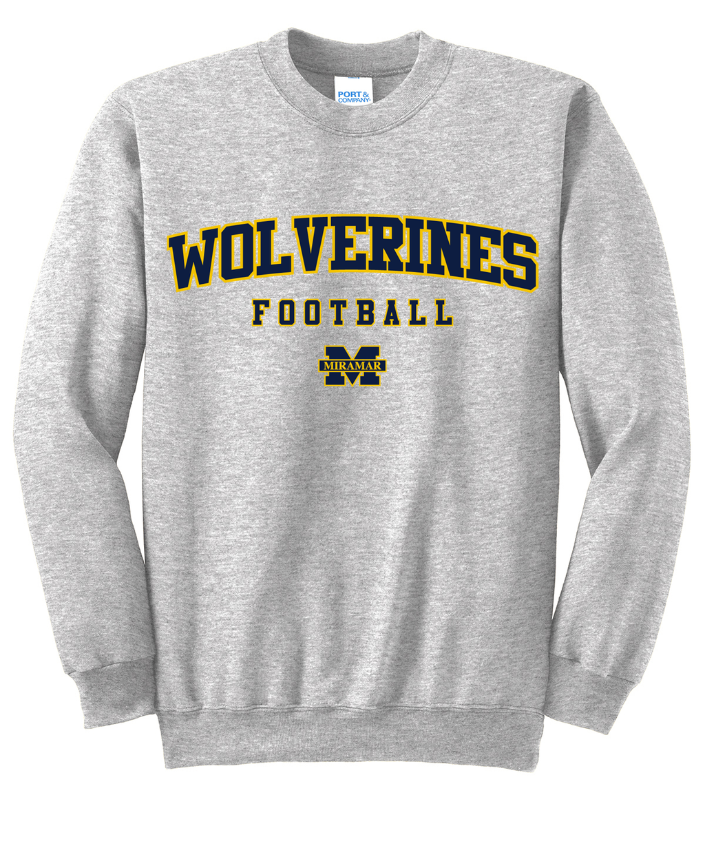 Miramar Wolverines Football Crew Neck Sweater