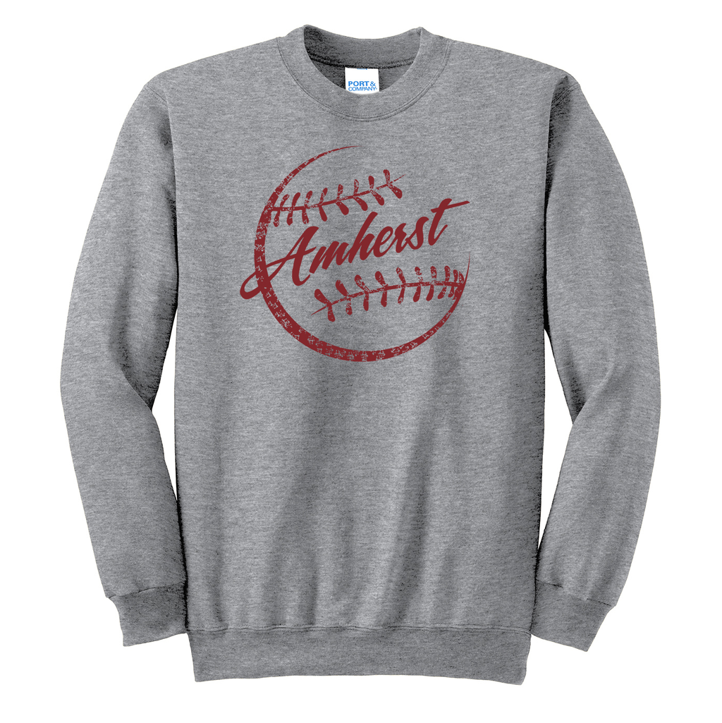 Amherst  Softball Crew Neck Sweater