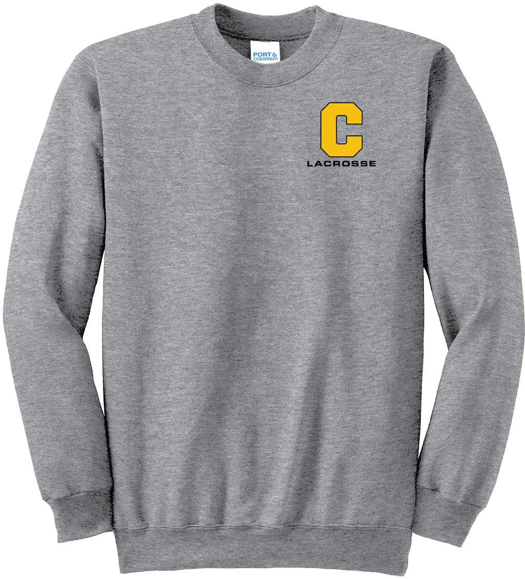 Commack Youth Lacrosse Athletic Heather Crew Neck Sweater