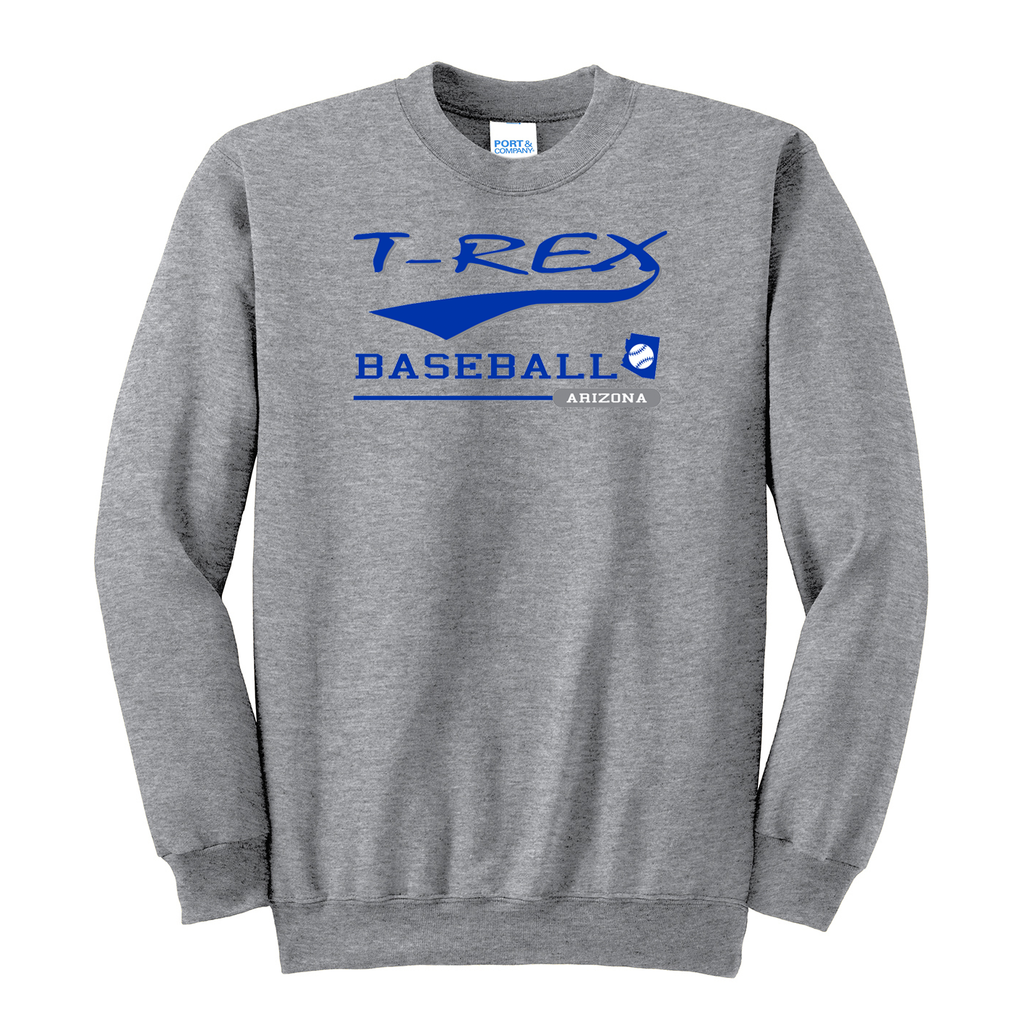 T-Rex Baseball Crew Neck Sweater