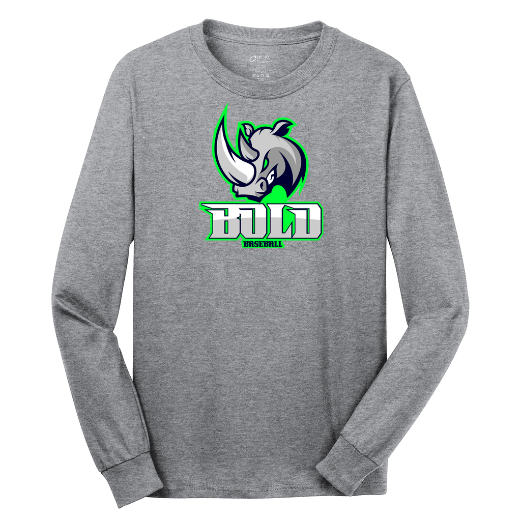 Bold Baseball  Cotton Long Sleeve Shirt