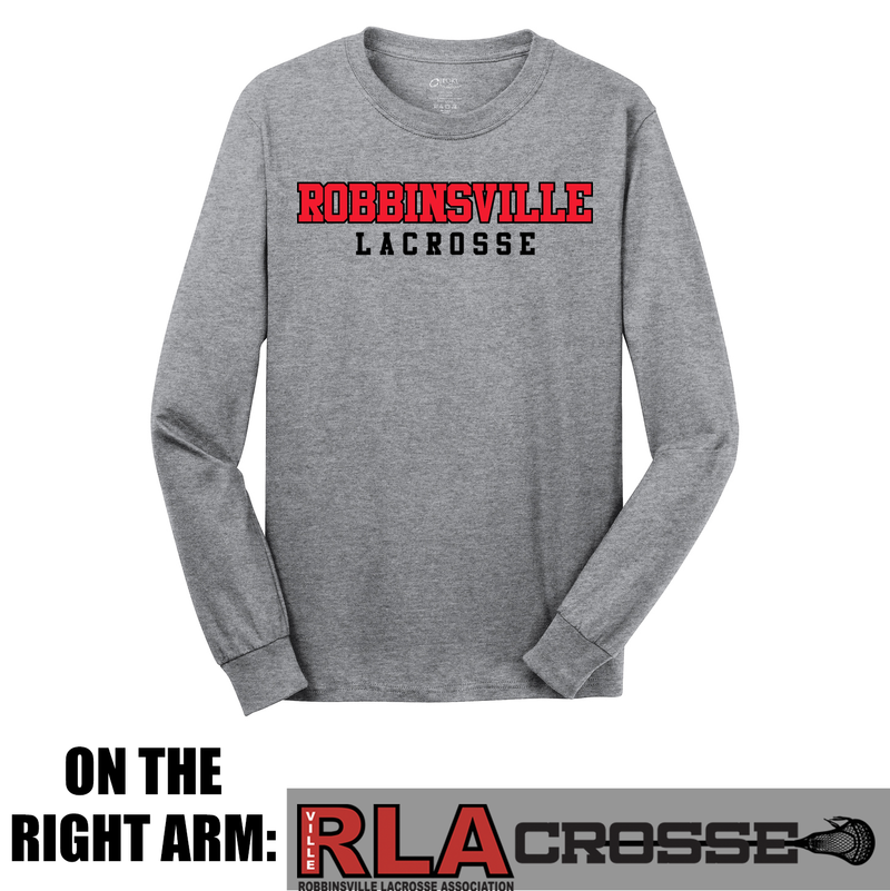 Robbinsville Lacrosse Association Cotton Long Sleeve Shirt