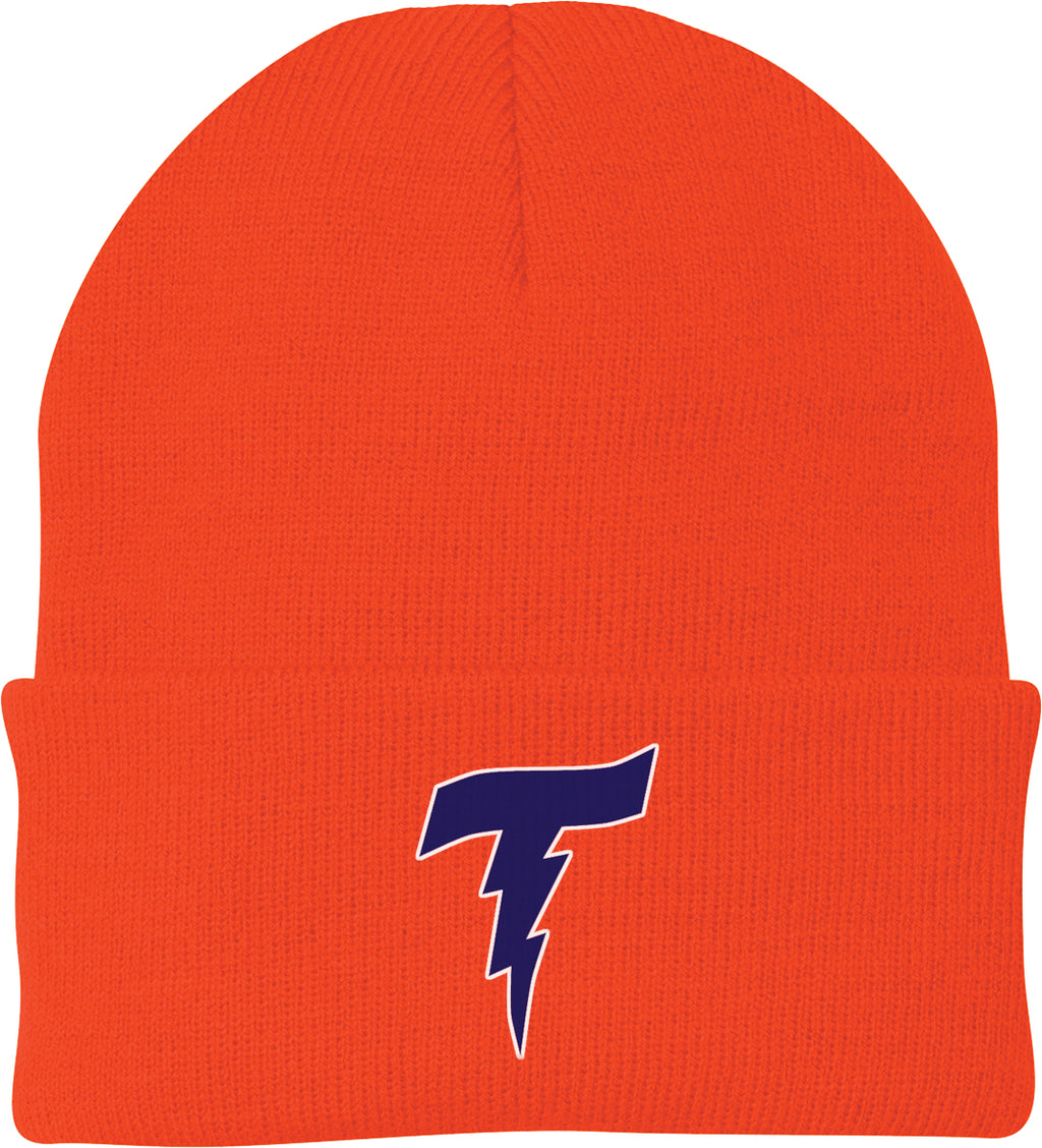 Illiana Thunderbolts Orange Knit Beanie