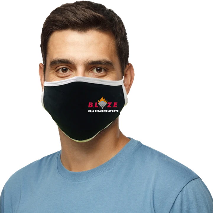 BLAZE 22:6 Diamond Sports Blatant Defender Face Mask (Black)