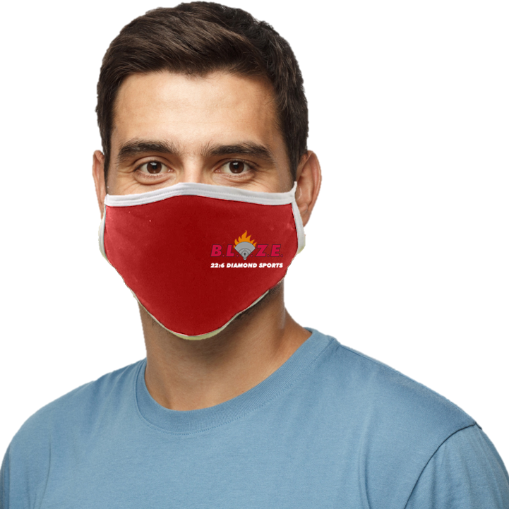BLAZE 22:6 Diamond Sports Blatant Defender Face Mask (Red)