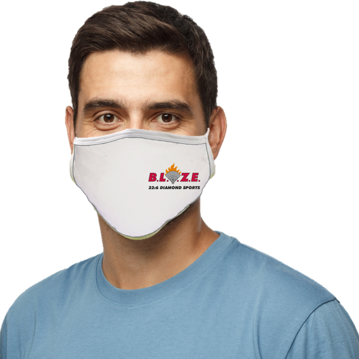 BLAZE 22:6 Diamond Sports Blatant Defender Face Mask (White)