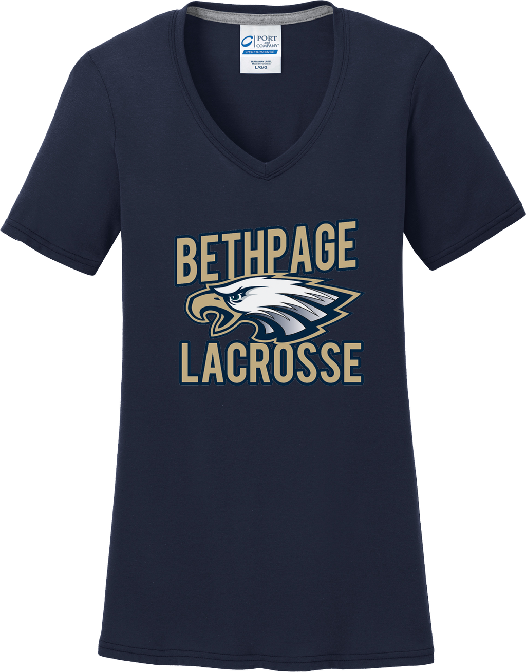 Bethpage Lacrosse Navy Women's T-Shirt