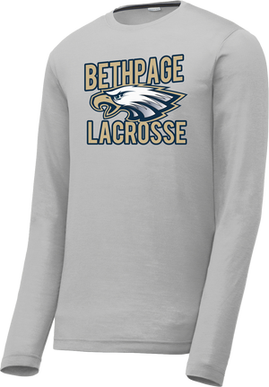 Bethpage Lacrosse Grey Long Sleeve CottonTouch Performance Shirt
