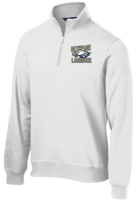 Bethpage Lacrosse White 1/4 Zip Fleece
