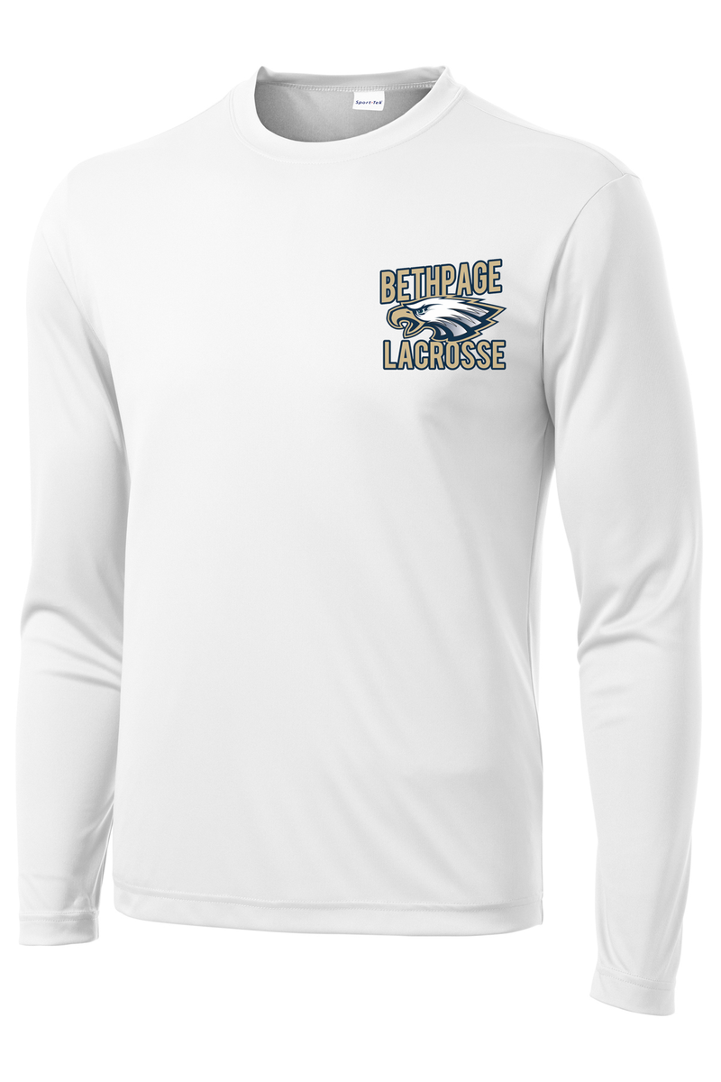 Bethpage Lacrosse White Long Sleeve Performance Shirt