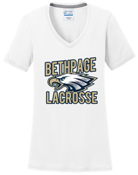 Bethpage Lacrosse White Women's T-Shirt