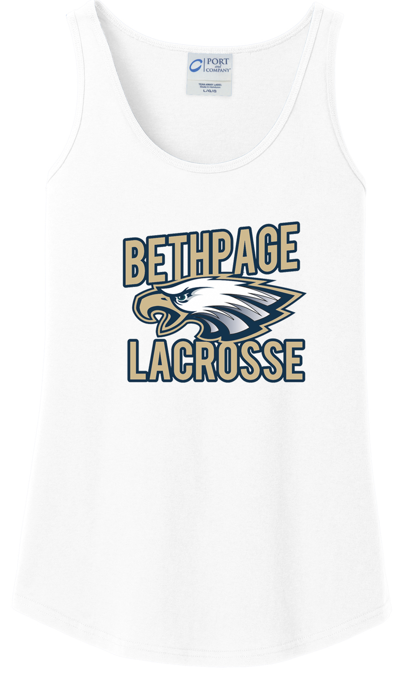 Bethpage Lacrosse White Women's Tank Top