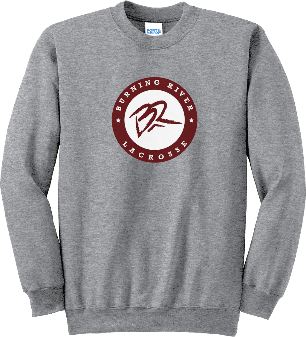 Burning River Grey Crew Neck Sweatshirt