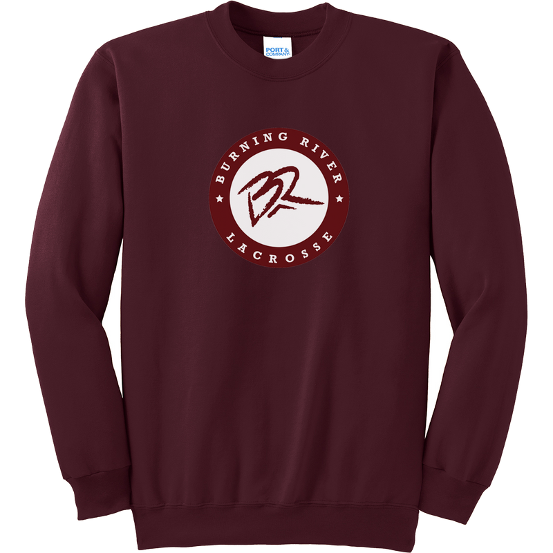 Burning River Maroon Crew Neck Sweatshirt