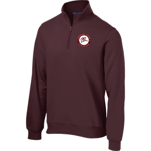 Burning River Maroon 1/4 Zip Fleece