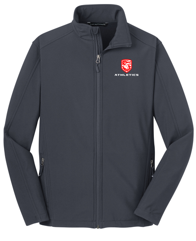 Nesaquake Middle School Battleship Grey Soft Shell Jacket