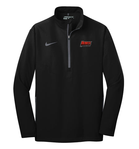 Rebels Lacrosse Black/Grey Nike 1/2 Zip Wind Shirt