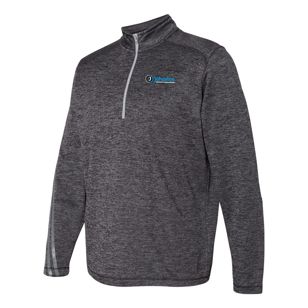 Johnston Adidas Terry Heathered Quarter-Zip Pullover