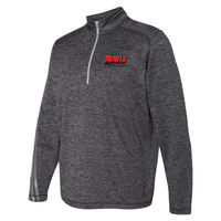 Rebels Lacrosse Men's Adidas Terry Heathered Quarter-Zip Pullover