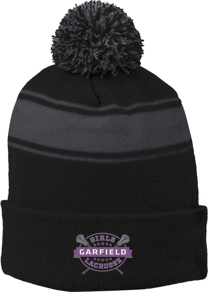 Garfield Black/Grey Pom Pom Beanie