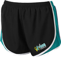 Frog Girls Lacrosse Women's Black/Tropic Blue Shorts