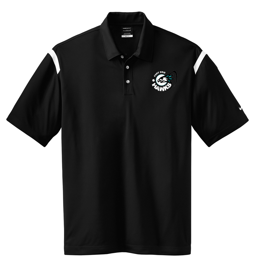 Fort Erie Hawks Black/White Nike Dri-FIT Stripe Polo