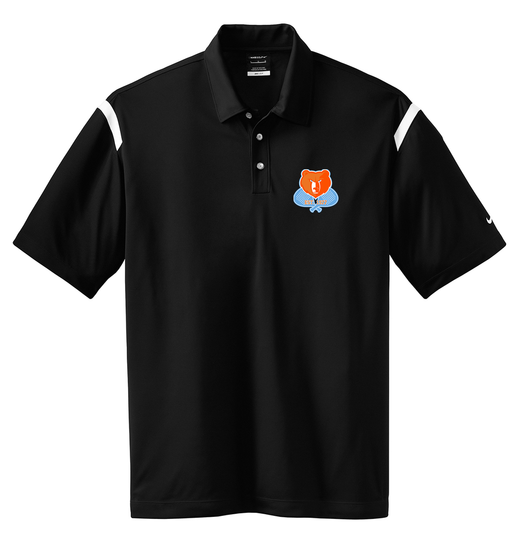 Briarcliff Men's Paddle Nike Dri-FIT Stripe Polo-Black