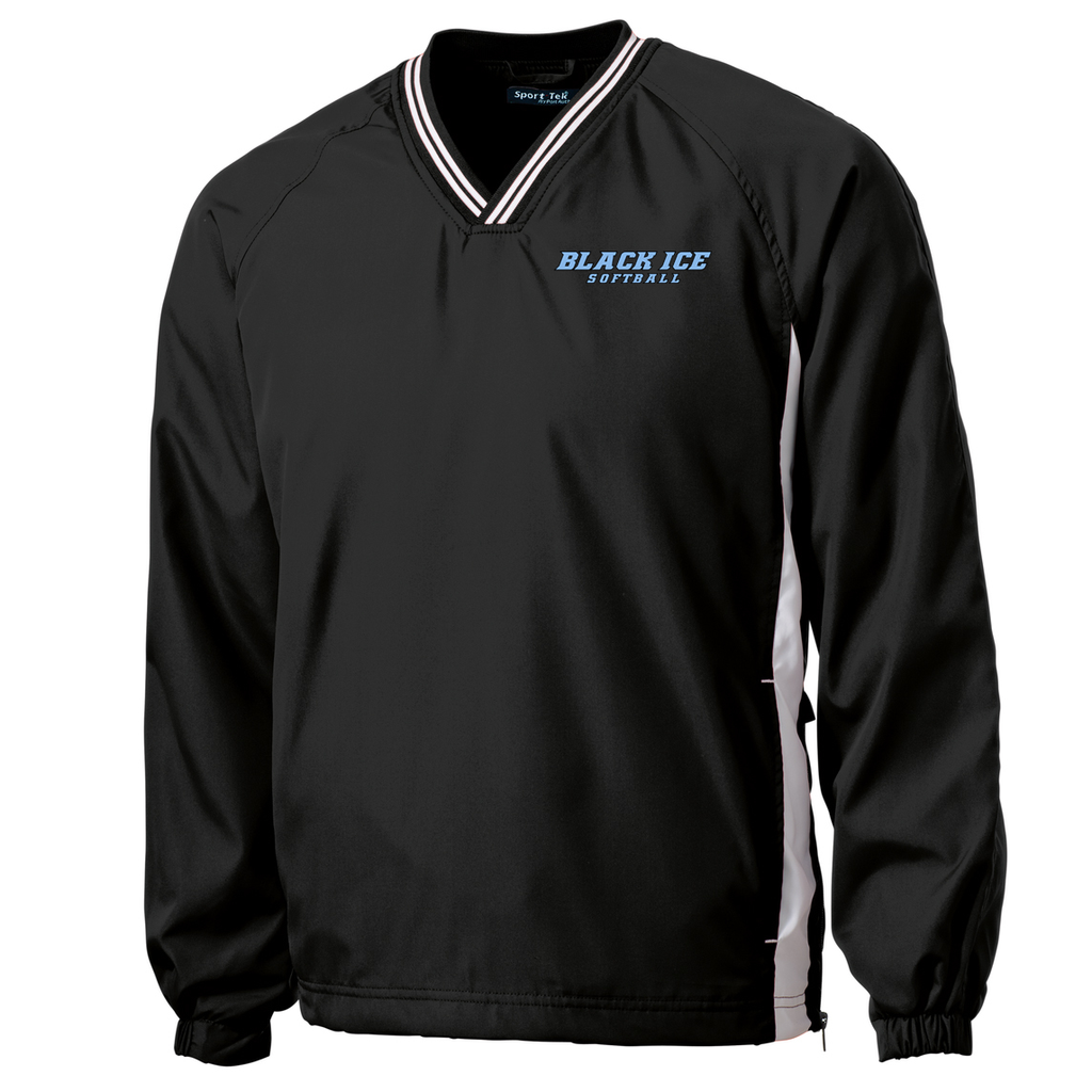 Black Ice Softball V-Neck Pullover