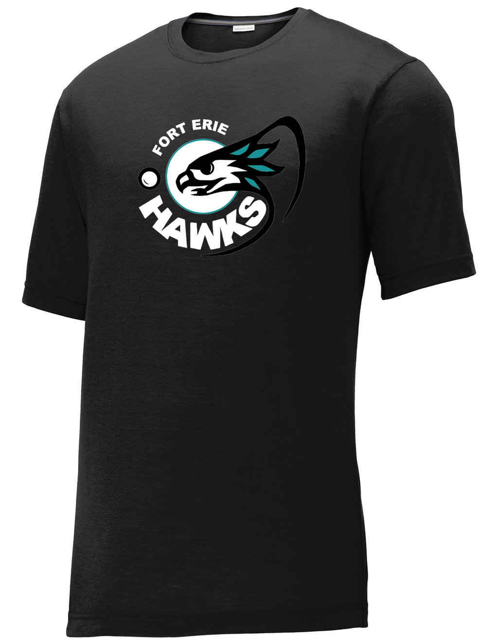 Fort Erie Hawks Black CottonTouch Performance T-Shirt