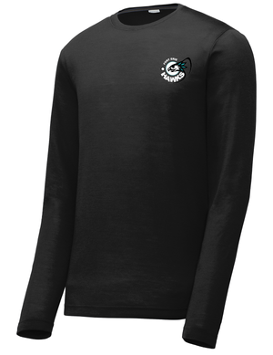 Fort Erie Hawks Black Long Sleeve CottonTouch Performance Shirt