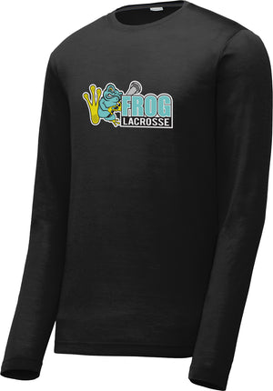 Frog Girls Lacrosse Black Long Sleeve CottonTouch Performance Shirt