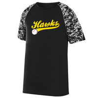 Hawks Baseball Digi-Camo Performance T-Shirt