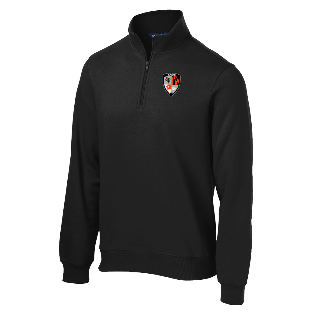 Shore Kaos Black 1/4 Zip Fleece