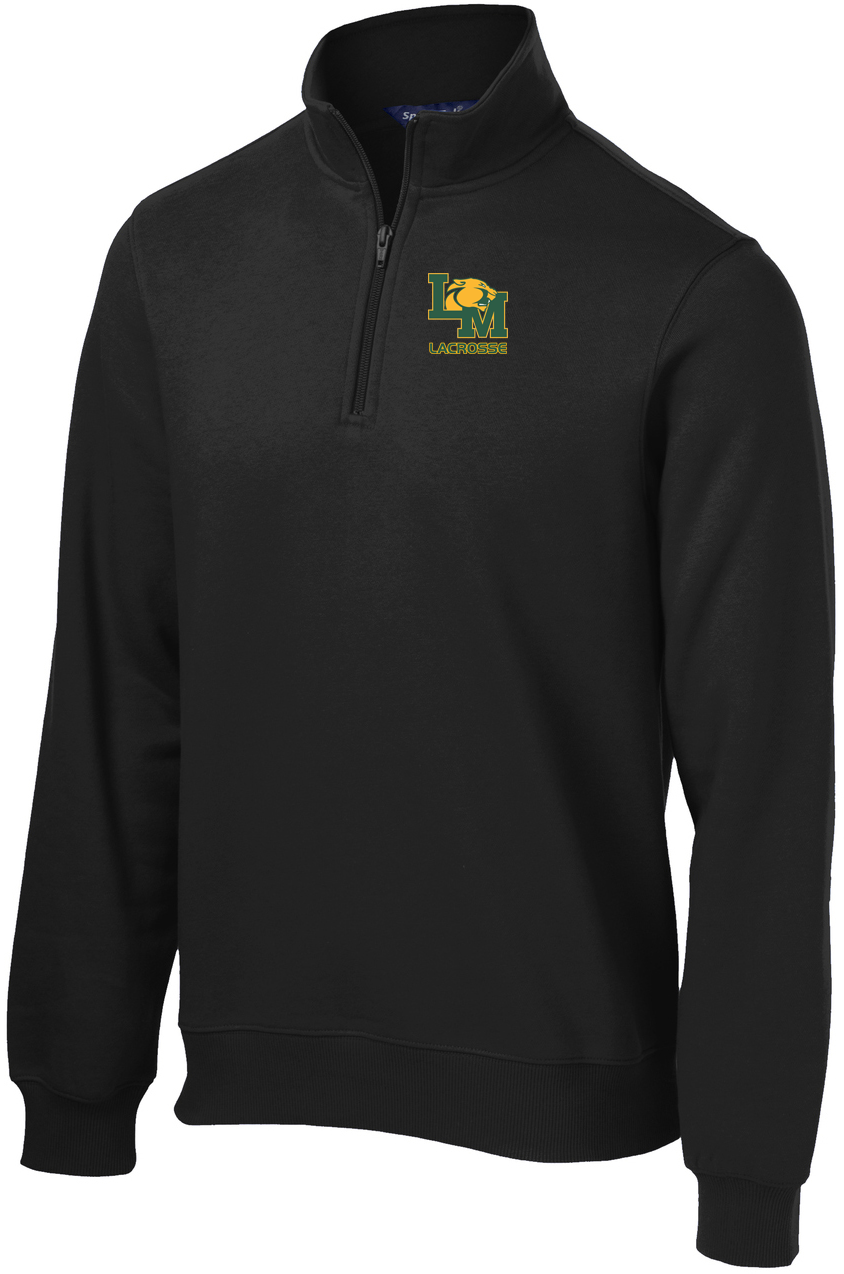Little Miami Lacrosse Black 1/4 Zip Fleece