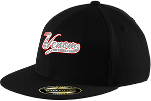 Valley Venom Baseball FlexFit Flat-Brim Hat