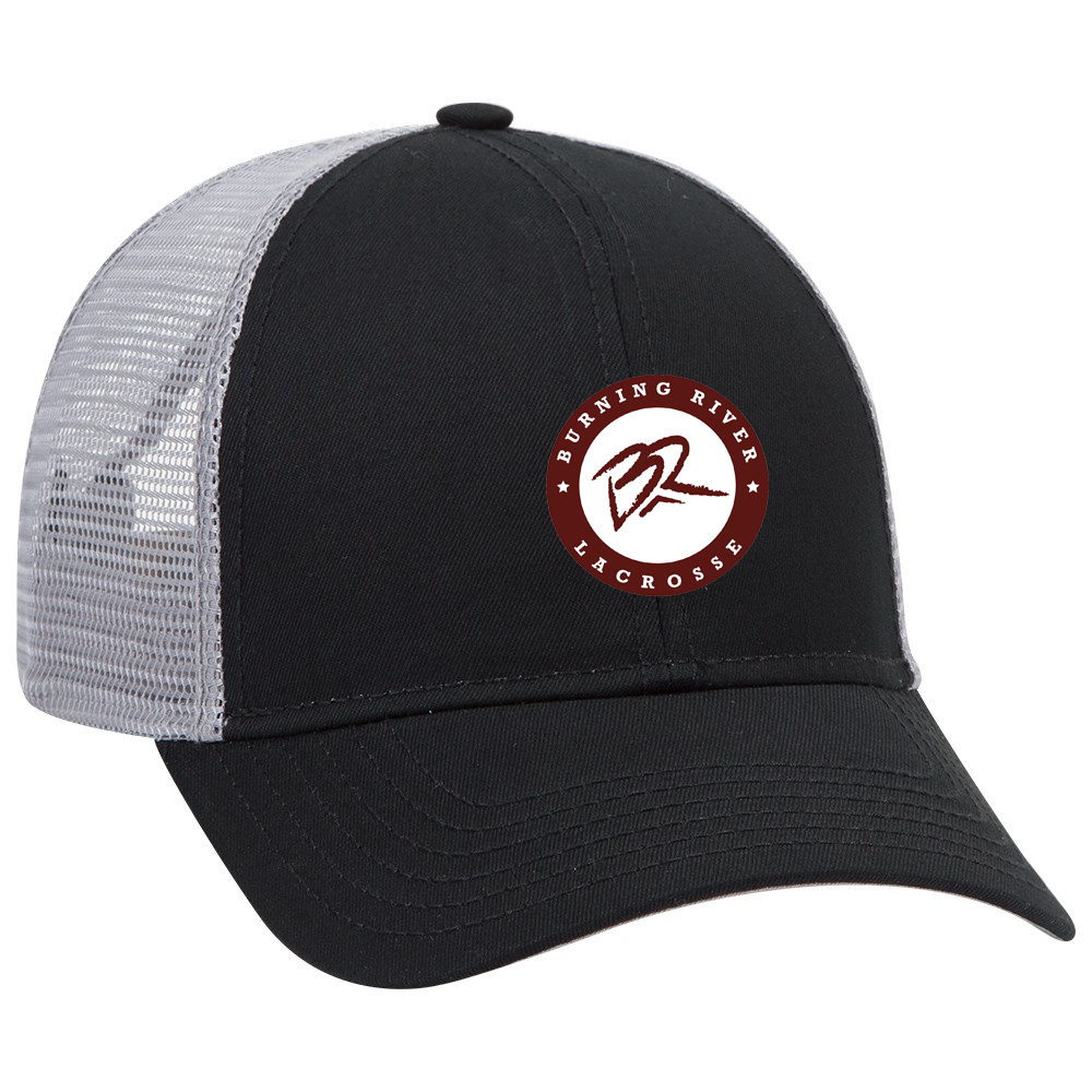 Burning River Black & Grey Trucker Hat